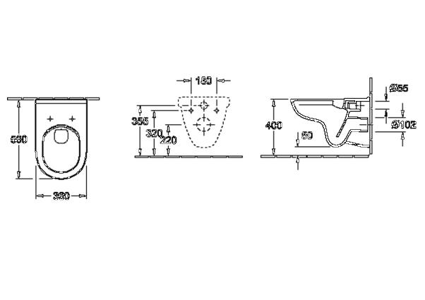 villeroy boch wand wc sp lrandlos directflush set. Black Bedroom Furniture Sets. Home Design Ideas