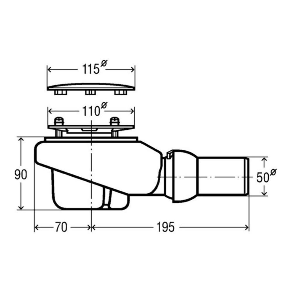viega tempoplex ablaufgarnitur duschwanne ablauf 90 mm ebay. Black Bedroom Furniture Sets. Home Design Ideas